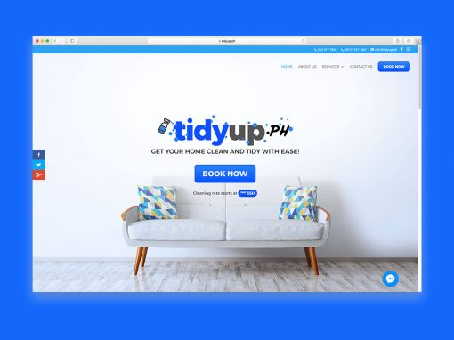 Logo and Website: TidyUp.ph